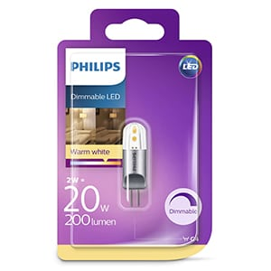 Philips dimmable LED blister 2-20W 200 Lumen