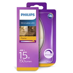 Philips dimmable LED blister 4-15W 150 Lumen